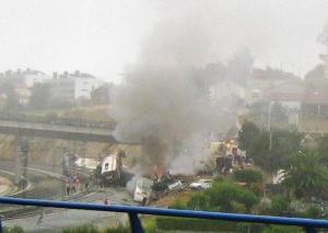 Imatge de l'accident presa per l'usuari de Wikicommon Xosema.